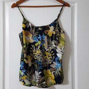 J. Crew V-neck Camisole in Watercolor Floral